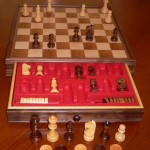 Chess and Draughts Set with Drawer