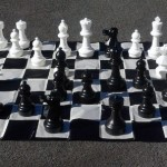 Garden Chess Set 300mm King and Nylon Mat