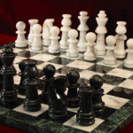 Marble Chess Set and Board. 90mm King