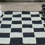 Garden Chess Set 410mm King and Nylon Mat