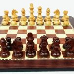 Anjan Chess Set with Board and Carry Case. 76mm King