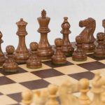 Anjan Extra Weighted Chess Set with Macassar Board. 95mm King