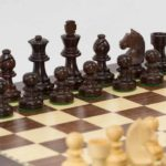 Anjan Chess Set and Board in Portable Carry Case. 76mm King