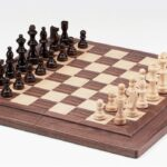 Folding Chess Set with Carry Handle. 78mm King